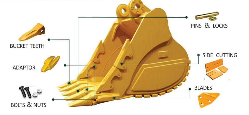 Denti benna escavatori miniescavatori - Eusiti